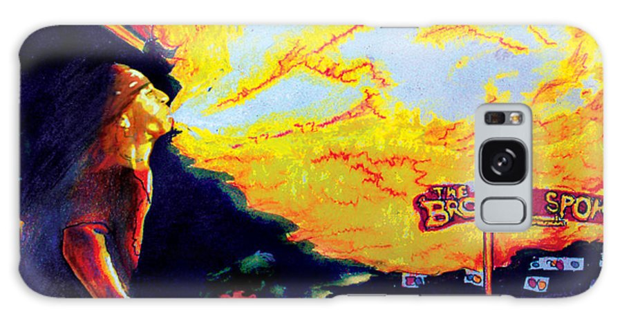 Bartender Galaxy S8 Case featuring the painting Joe At The Broken Spoke Saloon by Albert Puskaric
