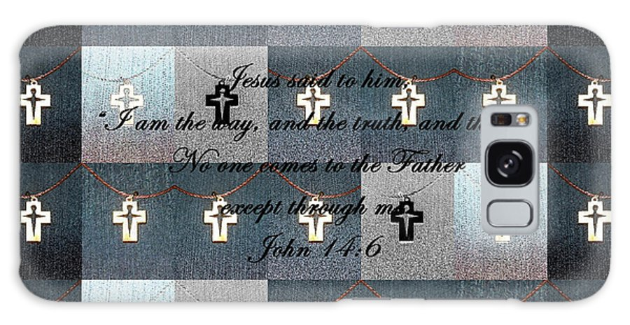 John 14:6 Galaxy S8 Case featuring the photograph John 14 6 The Wooden Cross by Nicki Bennett
