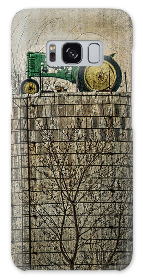 Tractor Galaxy S8 Case featuring the photograph John Deere Parking Only by Paul Freidlund