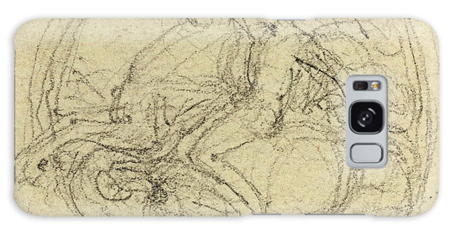 John Galaxy S8 Case featuring the drawing John Flaxman, British 1755-1826, Design For A Medal by Litz Collection