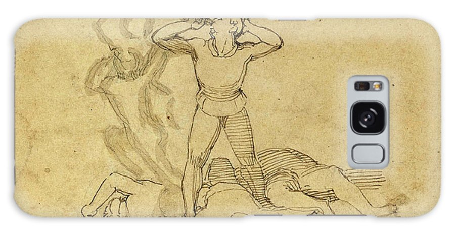 John Galaxy S8 Case featuring the drawing John Flaxman, British 1755-1826, Figure Standing by Litz Collection