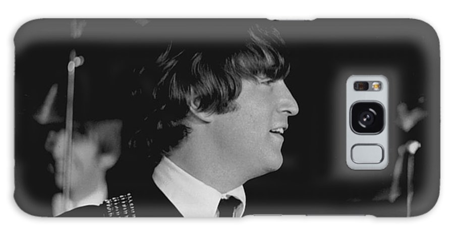 Beatles Galaxy Case featuring the photograph John Lennon, Beatles Concert, 1964 by Larry Mulvehill