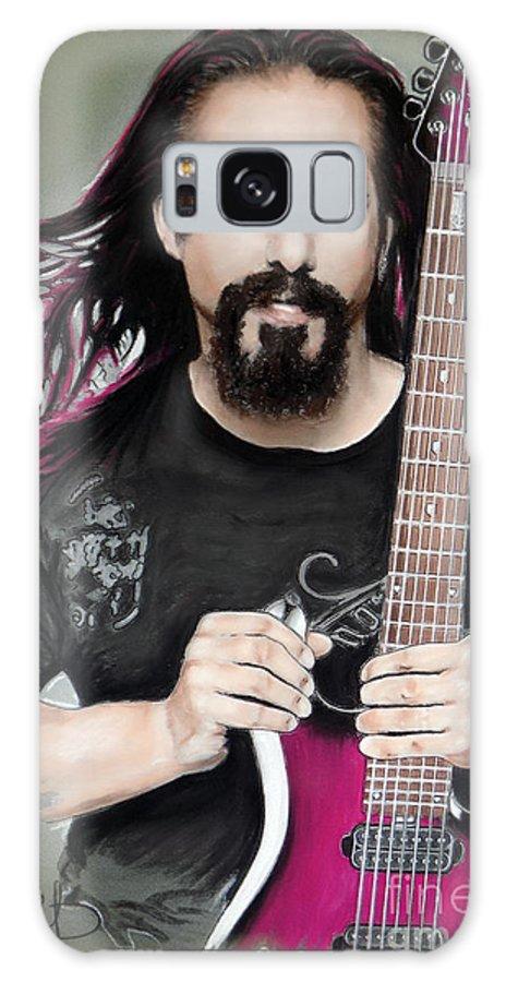 John Petrucci Galaxy Case featuring the mixed media John Petrucci by Melanie D