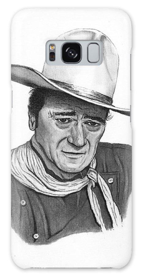 John Wayne Galaxy S8 Case featuring the drawing John Wayne #1 by Jay Kinney