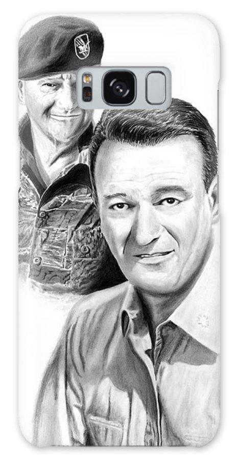 John Wayne Galaxy S8 Case featuring the drawing John Wayne by Peter Piatt