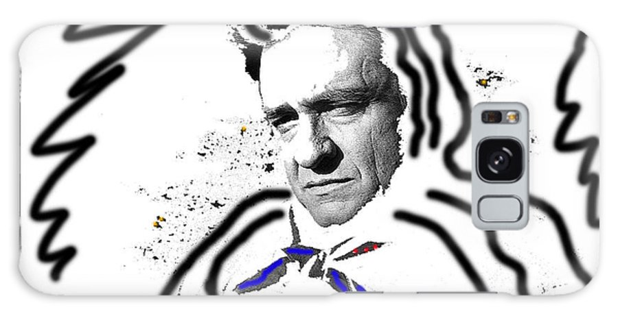 Johnny Cash Man In White Literary Homage Old Tucson Az Saul Saint Paul Pearl Finish Drawn On Galaxy S8 Case featuring the photograph Johnny Cash Man In White Literary Homage Old Tucson Arizona 1971-2008 by David Lee Guss