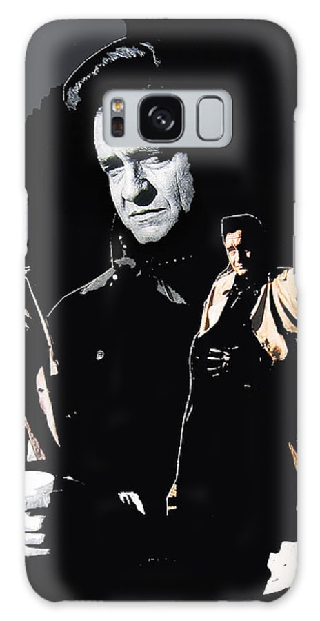 Johnny Cash Multiples Trench Coat Sitting Collage Surrealism Old Tucson Arizona Galaxy S8 Case featuring the photograph Johnny Cash Multiples Trench Coat Sitting Collage 1971-2008 by David Lee Guss