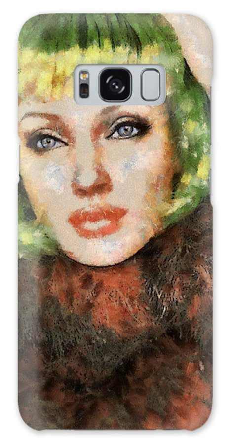 Angelina Galaxy S8 Case featuring the painting Jolie by Leapdaybride