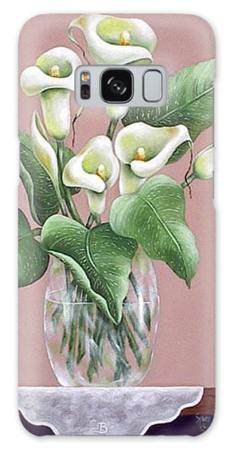 Oil Galaxy S8 Case featuring the painting Josies Lilies by Ruth Bares