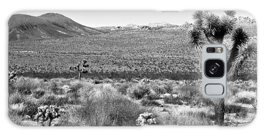 Black & White Galaxy S8 Case featuring the photograph Josua Tree - Geology Tour Road by Peter Tellone
