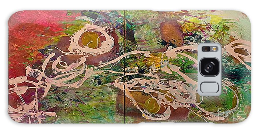 Landscape Galaxy Case featuring the painting Journey Forth by Allan P Friedlander