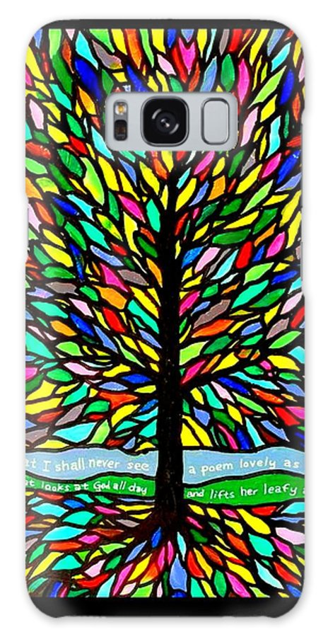 Joyce Kilmer Galaxy S8 Case featuring the painting Joyce Kilmer's Tree by Jim Harris