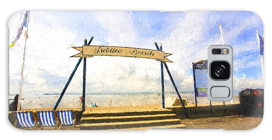 Jubilee Beach Galaxy Case featuring the photograph Jubilee Beach Southend On Sea by Sheila Smart Fine Art Photography