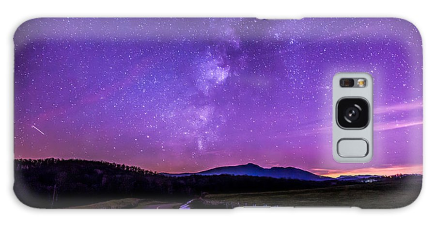 The Milky Way Rising Above Julian Price Memorial Park And The Blue Ridge Parkway. Travel Galaxy S8 Case featuring the photograph Julian Price Memorial Park Milky Way by Robert Loe