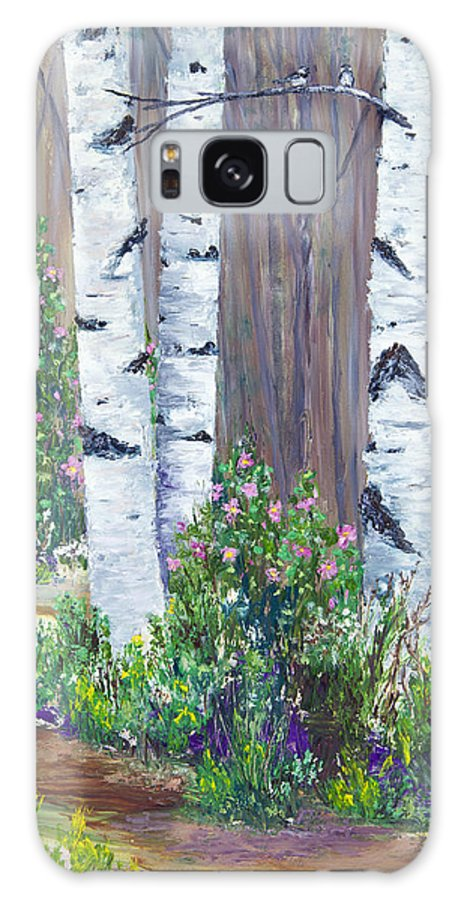 Birch Galaxy S8 Case featuring the photograph June Roses by Dee Carpenter