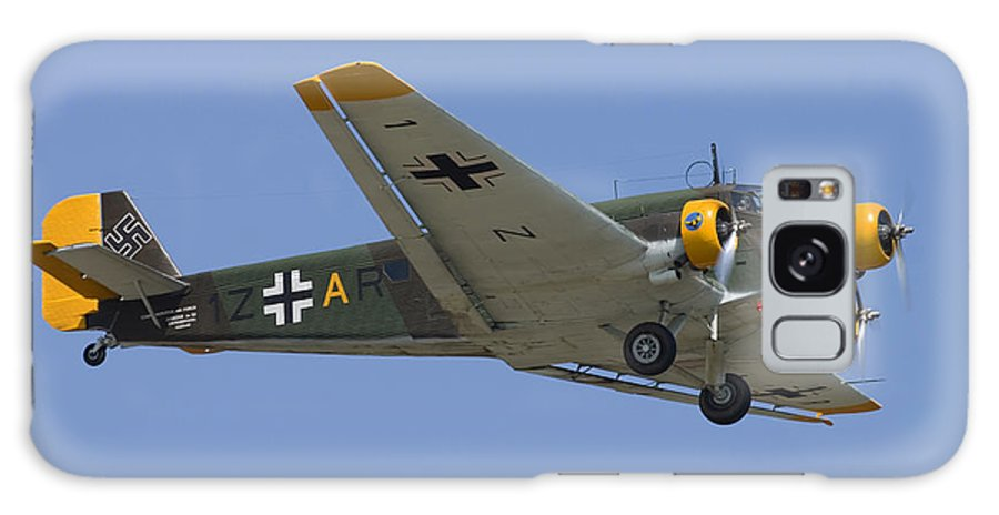 3scape Galaxy Case featuring the photograph Junkers Ju-52 by Adam Romanowicz