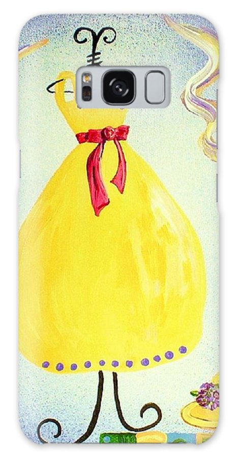 Dress Galaxy S8 Case featuring the painting Just A Simple Hat And Dress by Eloise Schneider Mote