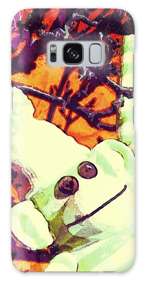 Painting Galaxy S8 Case featuring the mixed media Just Hangin' by Jessica Lea