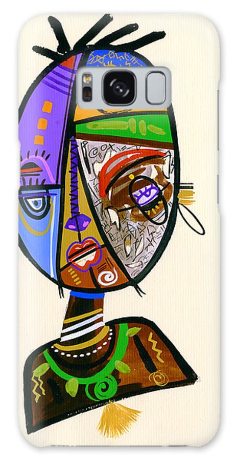 Contemporary Galaxy S8 Case featuring the painting Just Me by Oglafa Ebitari Perrin