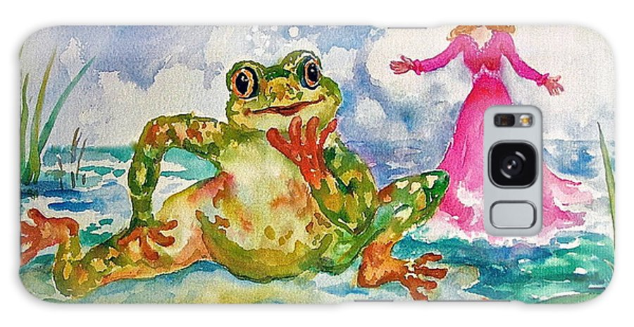 Frog Galaxy S8 Case featuring the painting Just One Wish by Judy Lynch-Smithey
