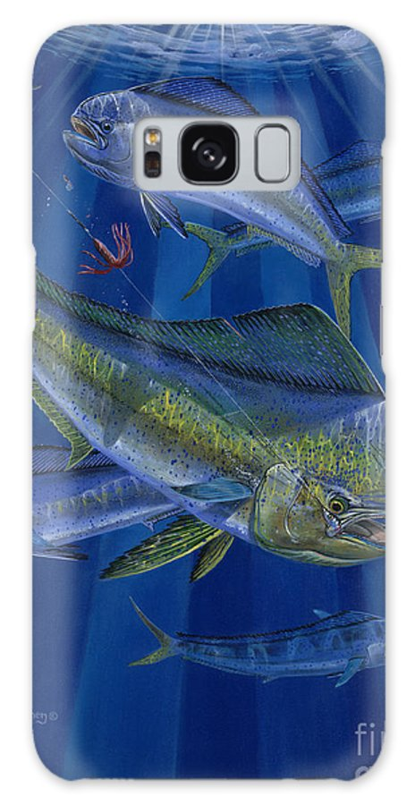 Mahi Galaxy S8 Case featuring the painting Just Taken Off0025 by Carey Chen