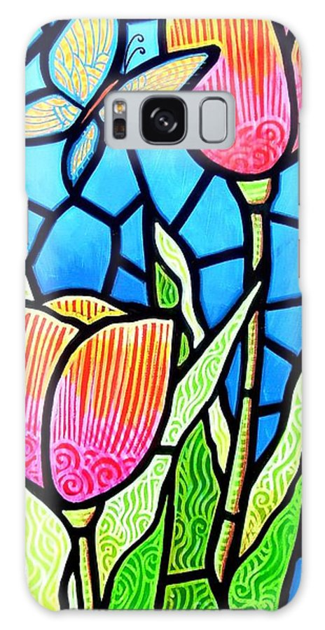 Butterflies Galaxy Case featuring the painting Just Visiting by Jim Harris