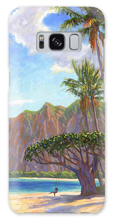 Kaaawa Galaxy Case featuring the painting Kaaawa Beach - Oahu by Steve Simon