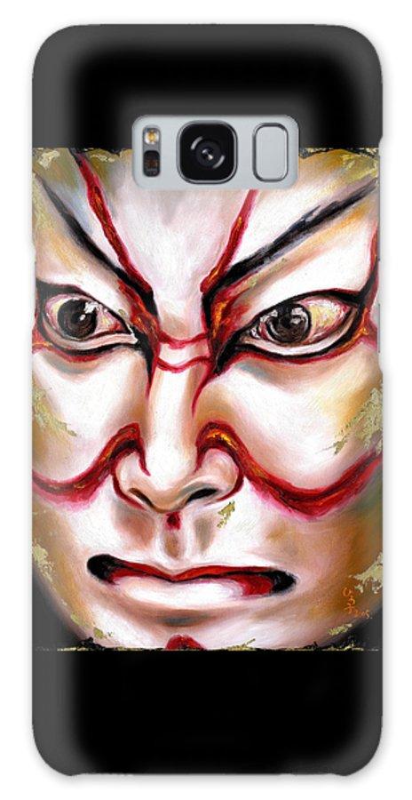 Kabuki Galaxy S8 Case featuring the painting Kabuki One by Hiroko Sakai