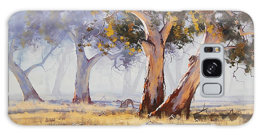 Eucalyptus Trees Galaxy S8 Case featuring the painting Kangaroo Grazing by Graham Gercken