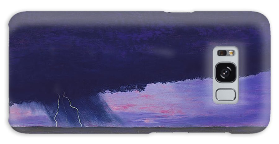 Lightning Galaxy S8 Case featuring the painting Kansas Lightning Storm by Garry McMichael