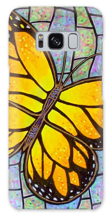 Butterflies Galaxy Case featuring the painting Karens Butterfly by Jim Harris