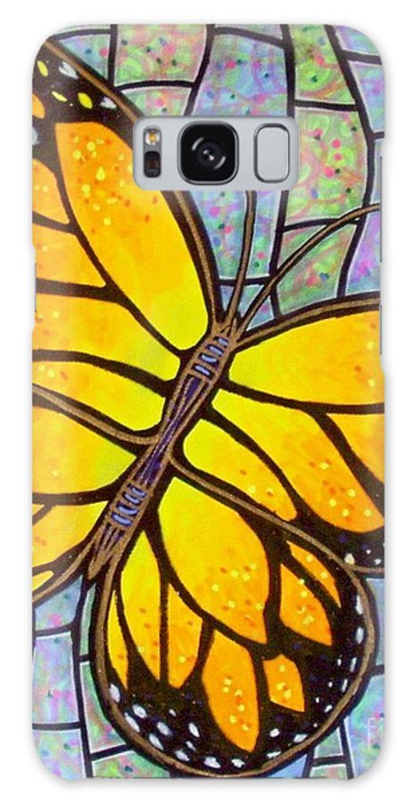 Butterflies Galaxy S8 Case featuring the painting Karens Butterfly by Jim Harris