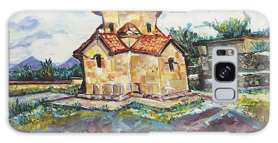 Spiritual Galaxy S8 Case featuring the painting Karmravor Church Vii Century Armenia by Helena Bebirian