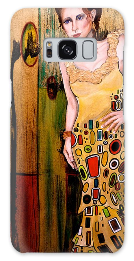 Woman Galaxy S8 Case featuring the painting Kate by Debi Starr