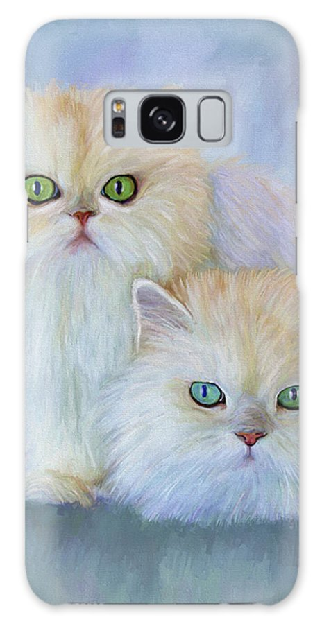 Cat Galaxy S8 Case featuring the painting Katrina And Bjorn by David Wagner