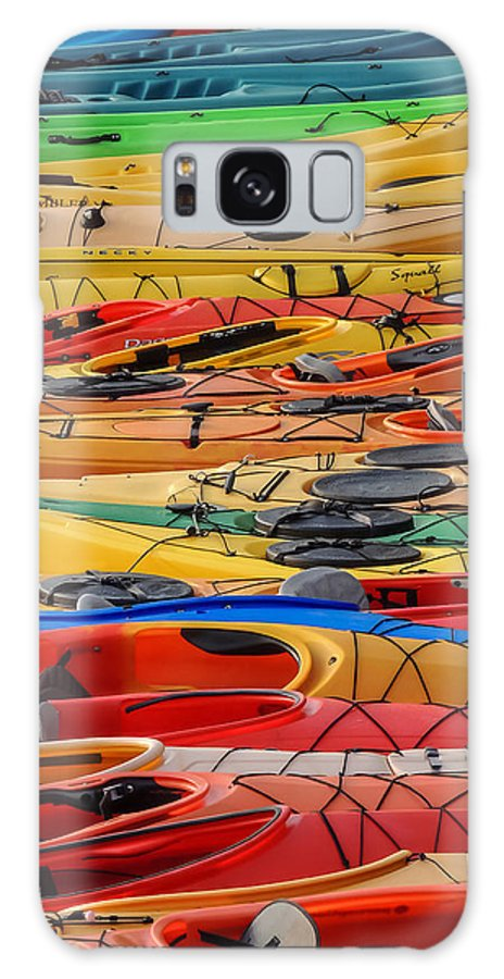 Boats Galaxy S8 Case featuring the photograph Kayak Spectrum by Robert Mitchell