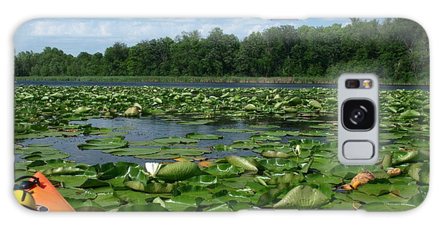 Nature Galaxy S8 Case featuring the photograph Kayaking Among The Waterlillies by James Peterson