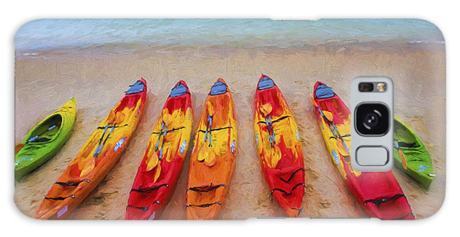 Kayaks Galaxy Case featuring the photograph Kayaks at Manly by Sheila Smart Fine Art Photography