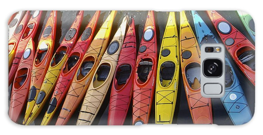 Galaxy S8 Case featuring the photograph Kayaks by Elizabeth-Anne King