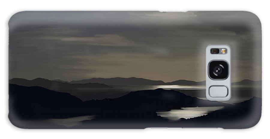 Kenmare Galaxy S8 Case featuring the painting Kenmare Bay By Night by Francis Leavey