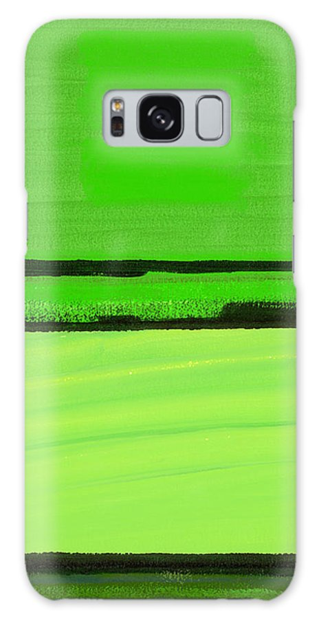 Abstract Galaxy S8 Case featuring the photograph Kensington Gardens Series Green On Green Oil On Canvas by Izabella Godlewska de Aranda