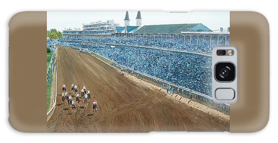 Kentucky Derby Galaxy S8 Case featuring the painting Kentucky Derby - Horse Race by Mike Rabe