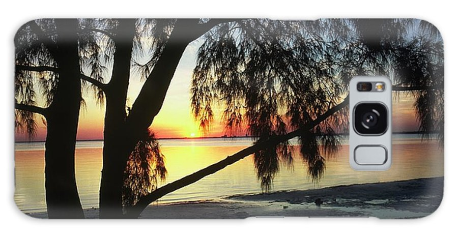 Key Biscayne Sunset Galaxy S8 Case featuring the photograph Key Biscayne Sunset by Allen Beatty