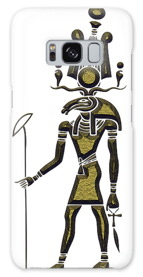 Africa Galaxy S8 Case featuring the digital art Khensu - God Of Ancient Egypt by Michal Boubin