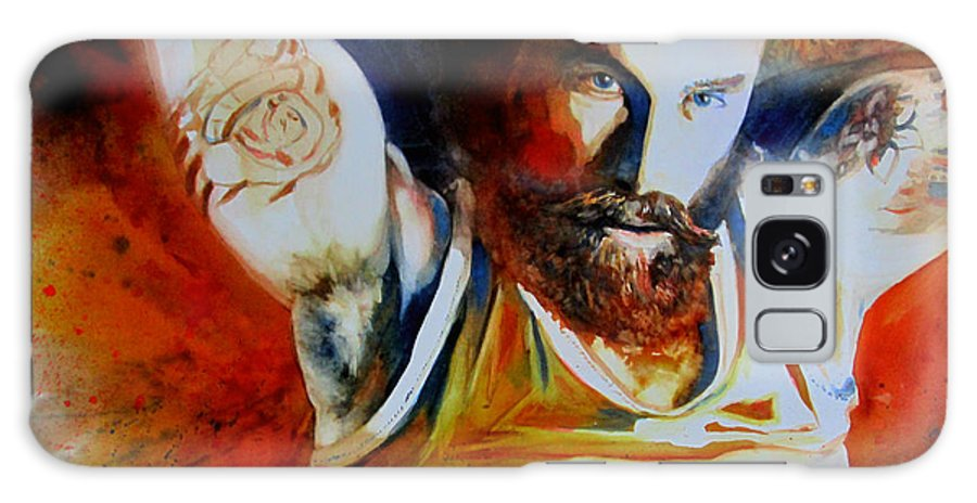 Gay Art Galaxy S8 Case featuring the painting Killer Look by Michel Jutras