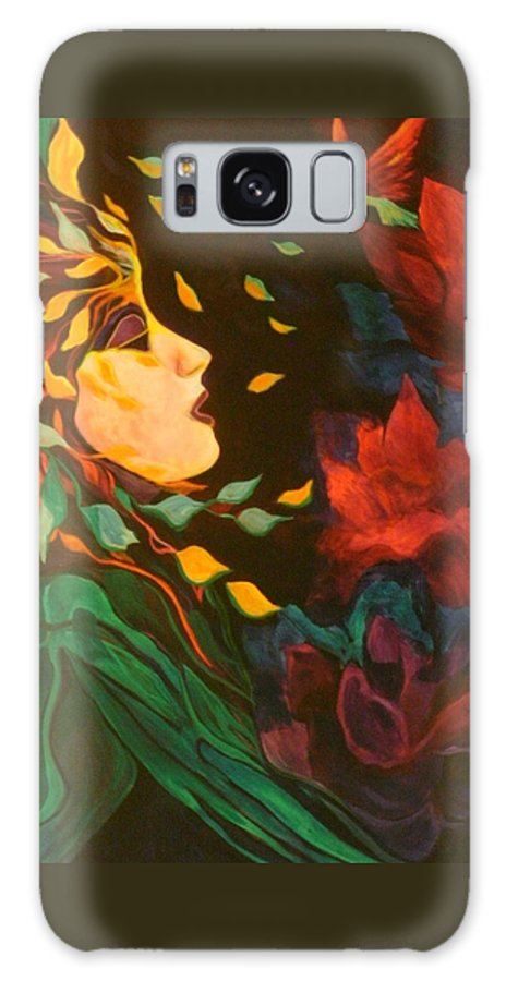 Spirits Galaxy Case featuring the painting Kindred Spirits by Carolyn LeGrand