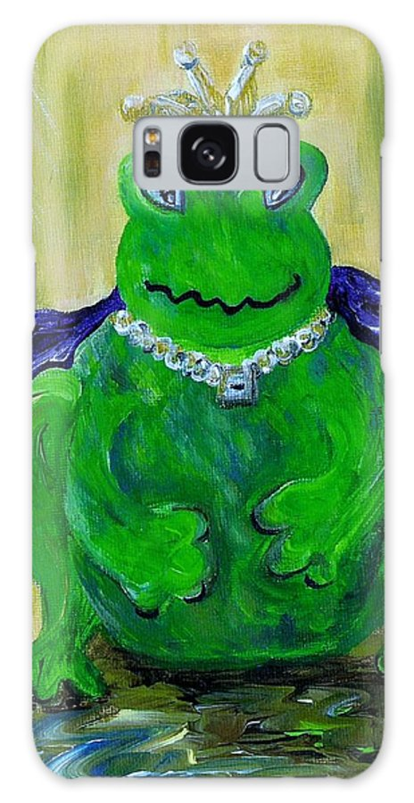 Frog Galaxy S8 Case featuring the painting King For A Day by Eloise Schneider Mote