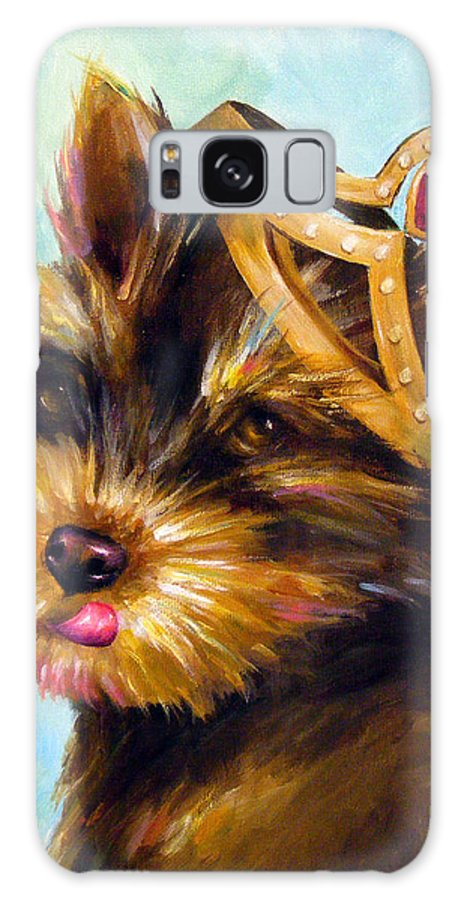 Dog Galaxy S8 Case featuring the painting King Of Hearts 3 by Dina Dargo