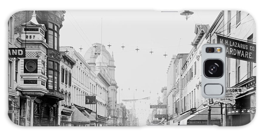 1910 Galaxy S8 Case featuring the photograph King Street In Charleston South Carolina Circa 1910 by Mountain Dreams