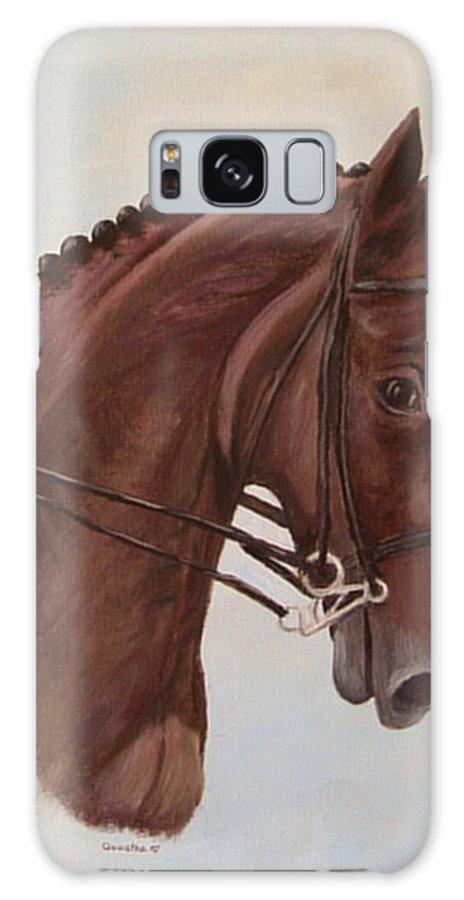 Horse Galaxy S8 Case featuring the painting Kingd'azur by Quwatha Valentine